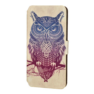 Create and Case iPhone 6 Plus Book Case - Warrior Owl