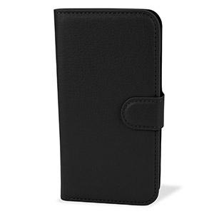 Enacse Moto G 2nd Gen Leather-Style Wallet Case - Black
