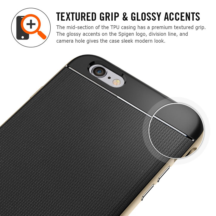 Spigen Neo Hybrid iPhone 6S Plus / 6 Plus Case - Gunmetal