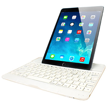 housse ipad air 2 avec clavier bluetooth qwerty or. Black Bedroom Furniture Sets. Home Design Ideas