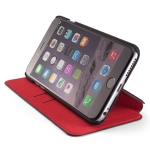 ElementCase Soft-Tec iPhone 6 Plus Wallet Stand Case - Black / Red