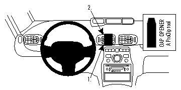 Brodit ProClip Centre Mount - Toyata Corolla 02-07