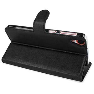 Encase Leather-Style HTC Desire 820 Wallet Case - Black