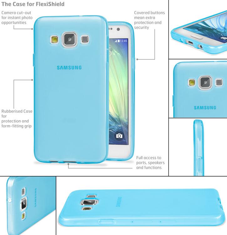 Encase FlexiShield Samsung Galaxy A3 2015 Case - Light Blue