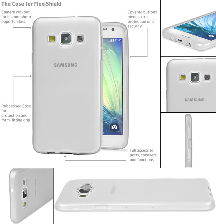 Encase FlexiShield Samsung Galaxy A5 Case - Frost White