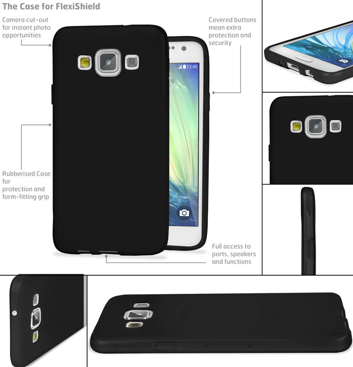 Encase FlexiShield Samsung Galaxy A7 Gel Case - Black