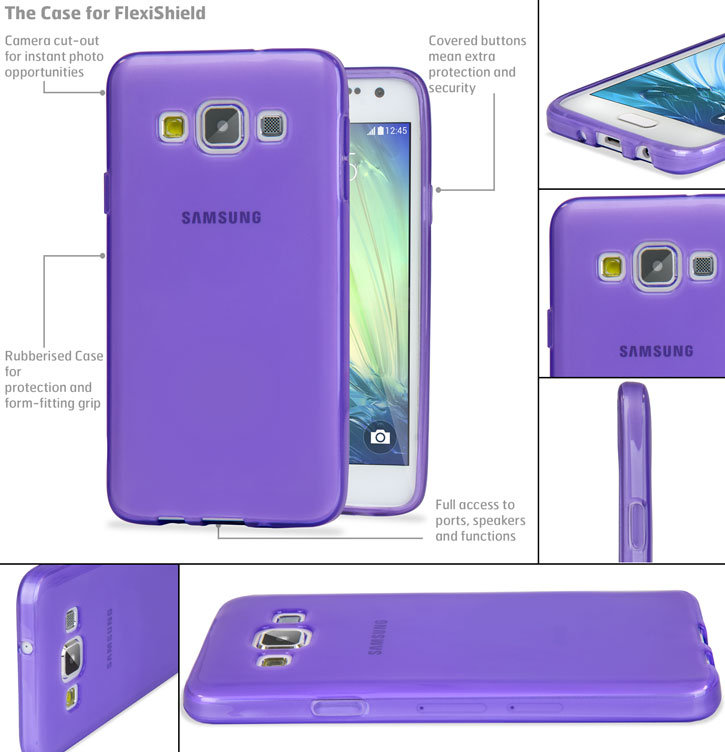 Encase FlexiShield Samsung Galaxy A7 Gel Case - Purple