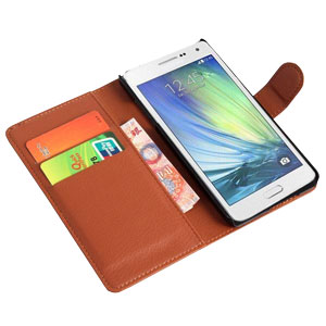 Encase Leather-Style Samsung Galaxy A5 Wallet Case - Brown