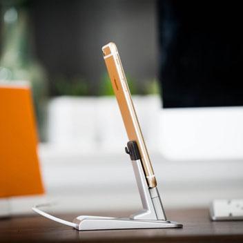 Support pour Smartphone et Tablette CableJive HeroDock Aluminium