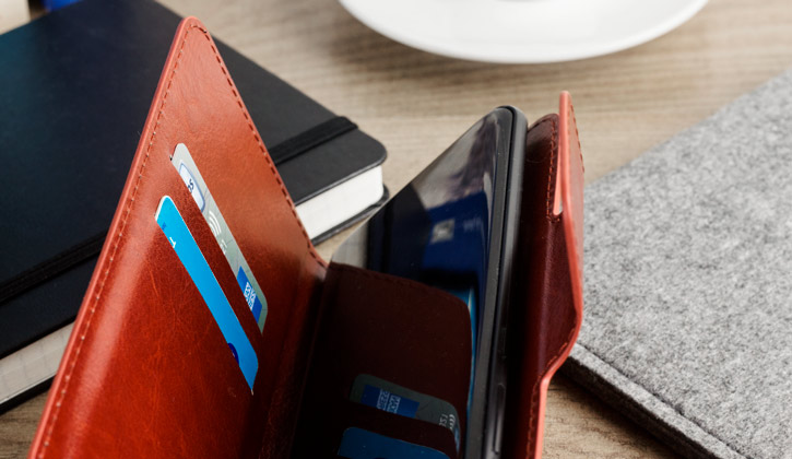 Encase Rotating 5.5 Inch Leather-Style Universal Phone Case - Black