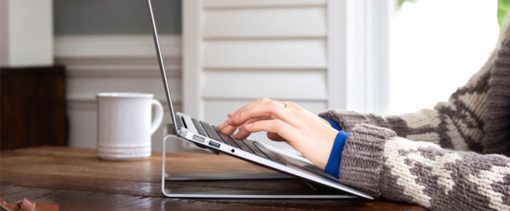Twelve South ParcSlope MacBook & Laptop Stand - Silver