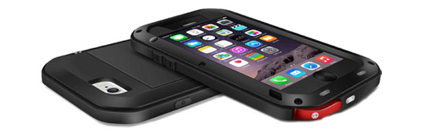 love mei powerful iphone 6s 6 protective case black front and back