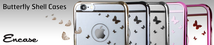 Butterfly iPhone 6 Shell Case - Champagne Gold / Clear