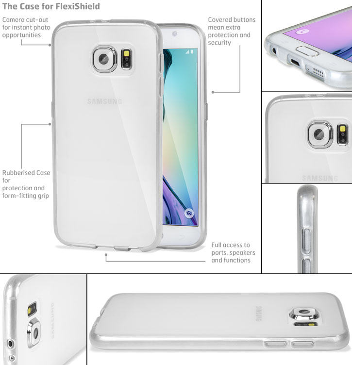 FlexiShield Samsung Galaxy S6 Gel Case - Frost White