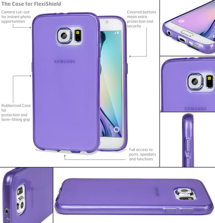 FlexiShield Samsung Galaxy S6 Gel Case - Purple