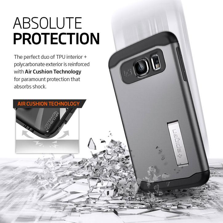 Spigen Slim Armor Samsung Galaxy S6 Case - Shimmery White