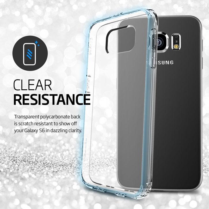 online store 8ee92 6a8d7 Spigen Ultra Hybrid Samsung Galaxy S6 Case - Clear