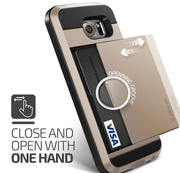 Verus Damda Slide Samsung Galaxy S6 Case - Champagne Gold