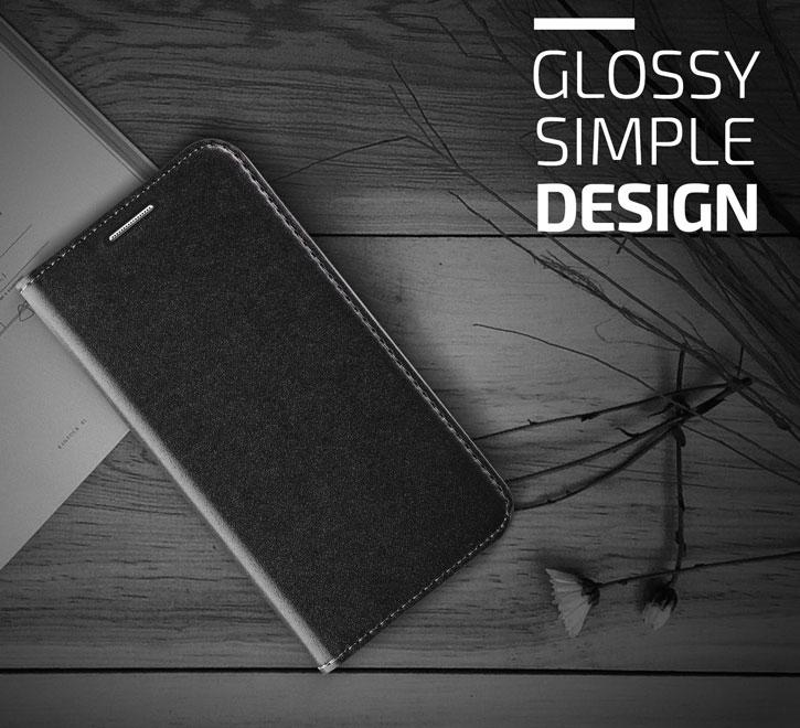 Verus Crayon Diary Samsung Galaxy S6 Leather-Style Case - Black