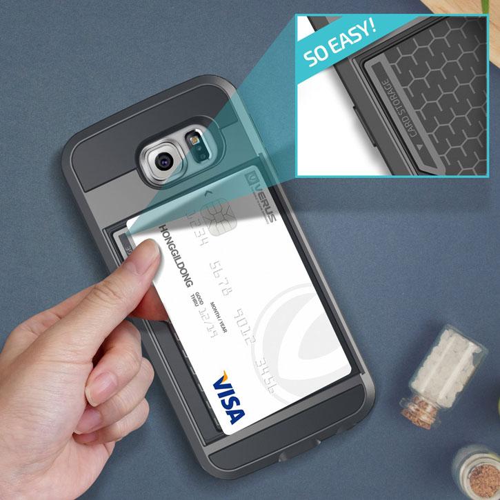 Verus Damda Slide Samsung Galaxy S6 Case - Dark Silver