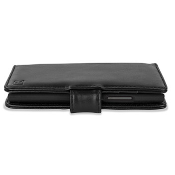 Encase Nokia Lumia 735 Genuine Leather Wallet Case - Black
