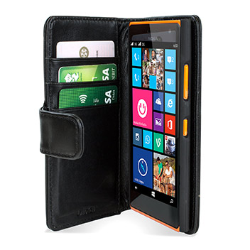 Encase Nokia Lumia 735 Genuine Leather Wallet Case