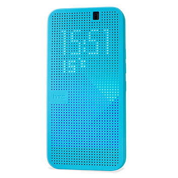 Official HTC One M9 Dot View 2 Premium Case - Turquoise
