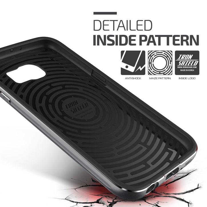 Verus Iron Shield Samsung Galaxy S6 Case - Titanium Silver