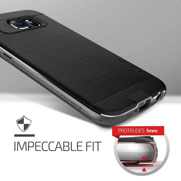 Verus Iron Shield Samsung Galaxy S6 Case - Titanium Silver
