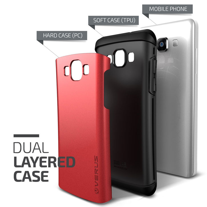 Verus Thor Samsung Galaxy A7 Case - Crimson Red