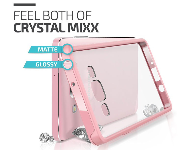 Verus Crystal Mix Samsung Galaxy A7 Case - Crystal Baby Pink