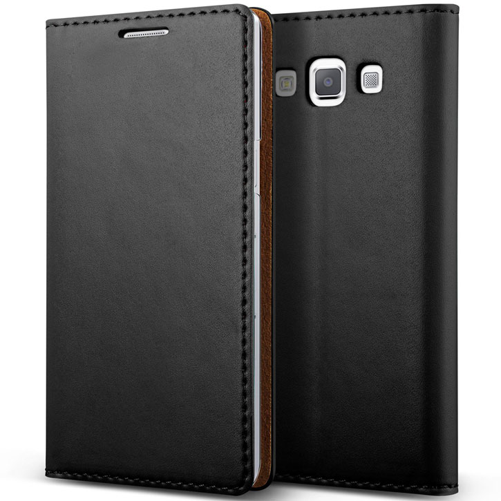 Verus Crayon Diary Samsung Galaxy A5 Leather-Style Case - Black