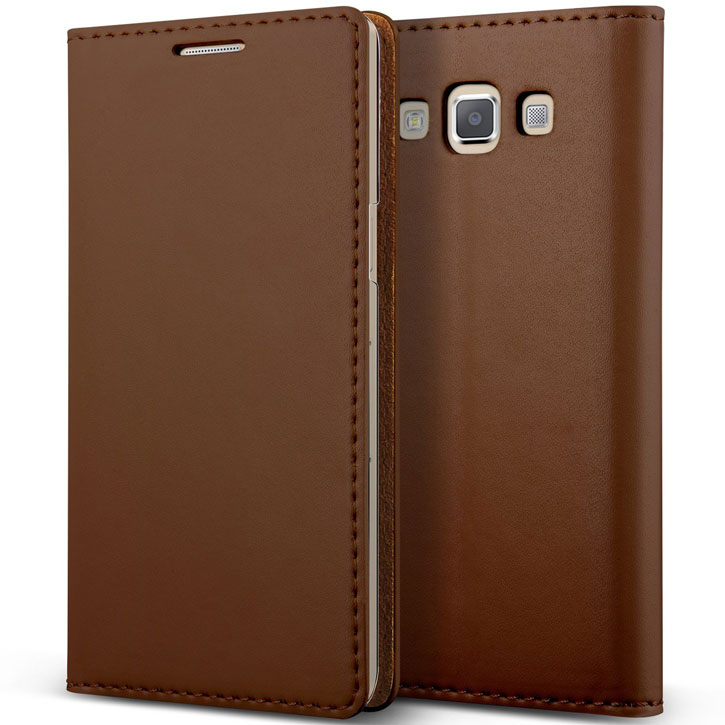 Verus Crayon Diary Samsung Galaxy A5 Leather-Style Case - Brown