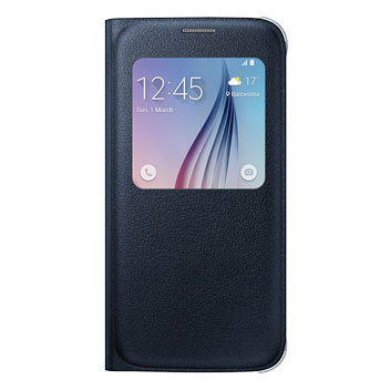 Official Samsung Galaxy S6 S View Premium Cover Case - Black