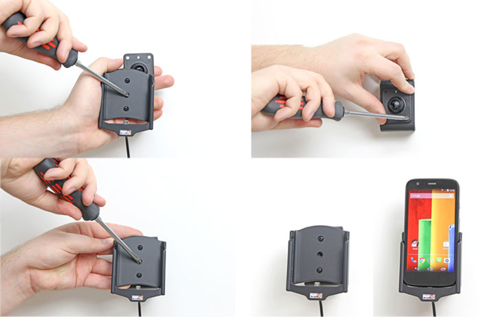 Brodit Moto G Active Holder with Molex Adapter