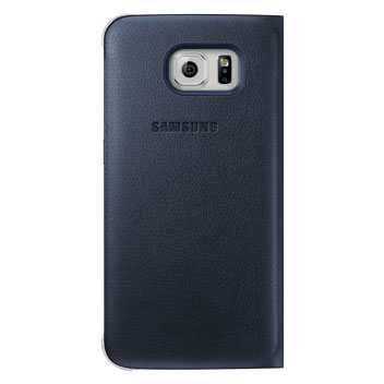 Official Samsung Galaxy S6 Flip Wallet Cover - Black