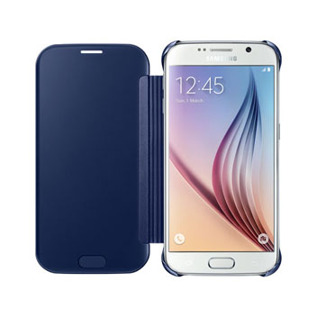 Official Samsung Galaxy S6 Clear View Cover Case - Dark Blue
