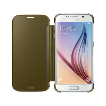 Official Samsung Galaxy S6 Clear View Cover Case - Gold