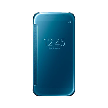 Official Samsung Galaxy S6 Clear View Cover Case - Blue