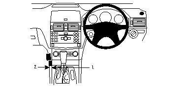 Brodit ProClip Centre Mount - Vauxhall Corsa 07-14