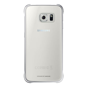 Official Samsung Galaxy S6 Clear Cover Case - Silver