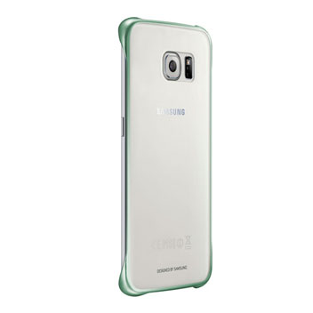 Official Samsung Galaxy S6 Edge Clear Cover Case - Green