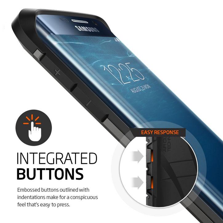 Spigen Tough Armor Samsung Galaxy S6 Edge Case - Satin Silver