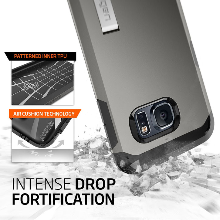 Spigen Tough Armor Samsung Galaxy S6 Edge Case - Metal Slate