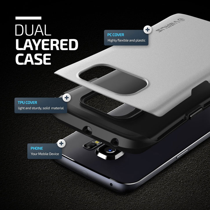 Verus Thor Samsung Galaxy S6 Edge Case - Steel Silver