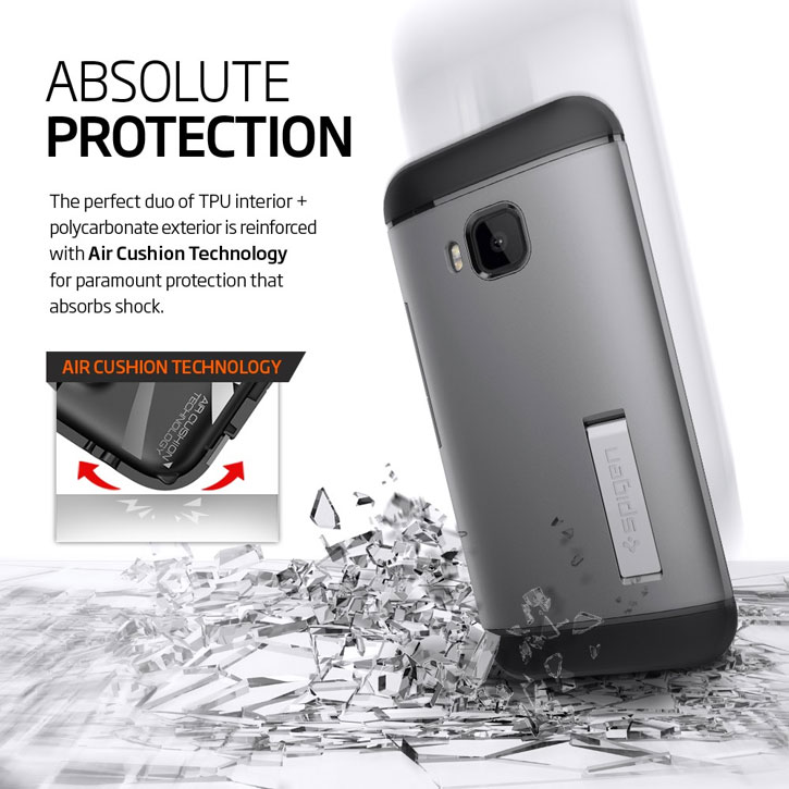 Spigen Slim Armor HTC One M9 Case - Metal Slate