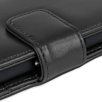 Olixar Sony Xperia Z3+ Genuine Leather Wallet Case - Black