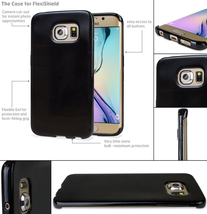 flexishield samsung galaxy s6 edge gel case black this