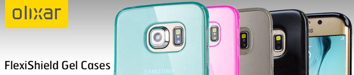 FlexiShield Samsung Galaxy S6 Edge Gel Case - Light Blue