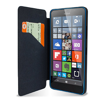 Official Microsoft Lumia 640 Wallet Cover Case - Black